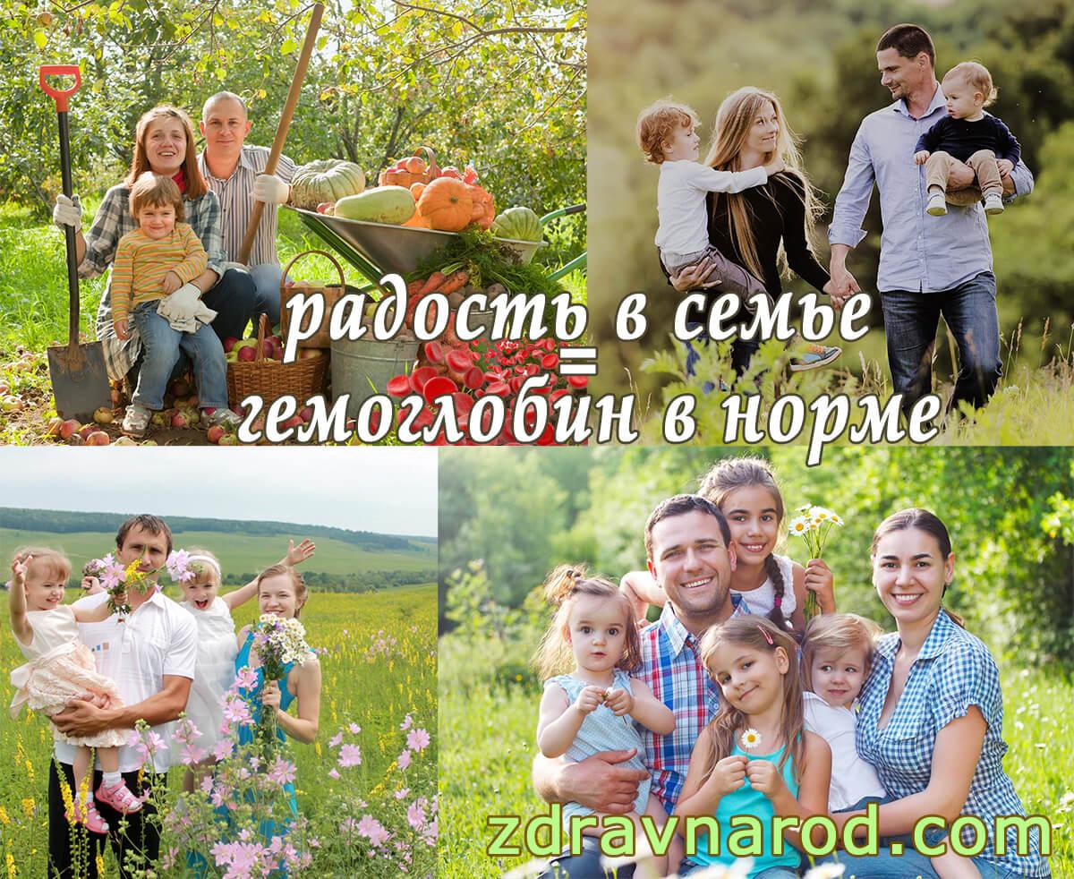 Вылечить анемию радостью в семье