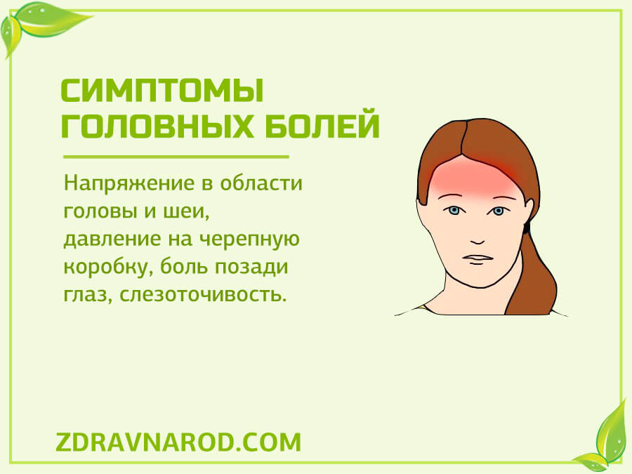 Симптомы головных болей