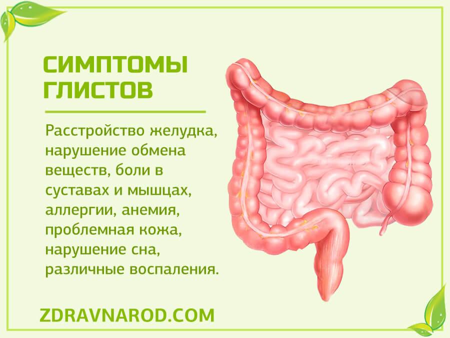 признак глистов в кишечнике