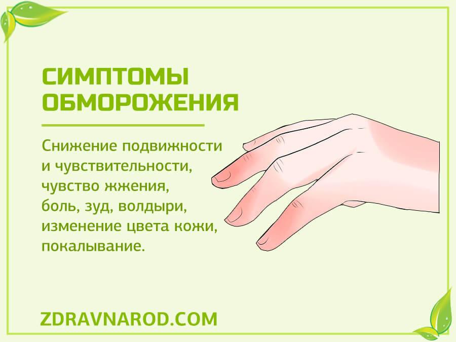 Симптомы обморожения - фото