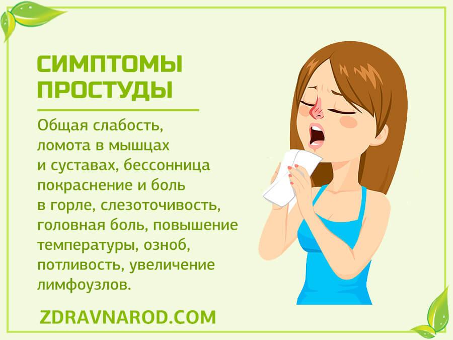 Симптомы простуды-фото