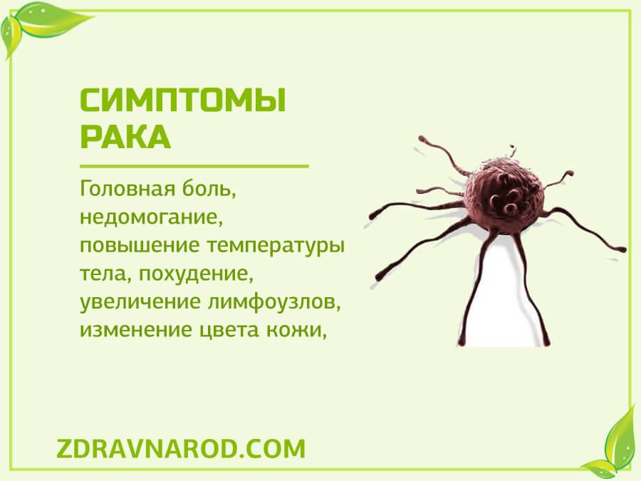Симптомы рака-фото