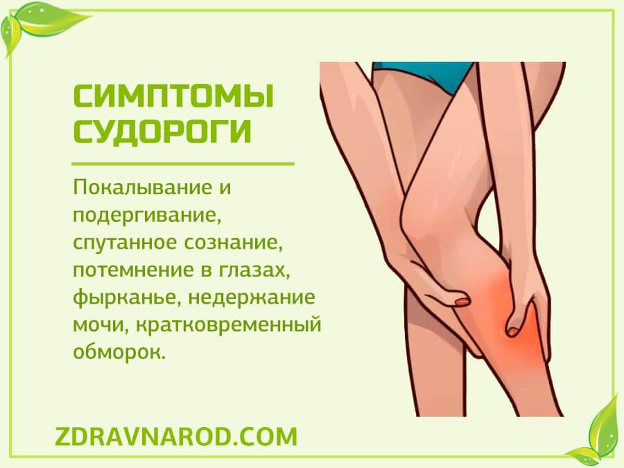 Симптомы судороги-фото